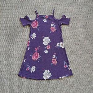 EUC Love Fire Floral Cold Shoulder Mini Dress XS